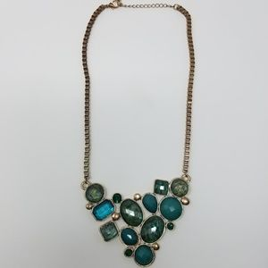 Jewelry - Blue and Gold statement necklack